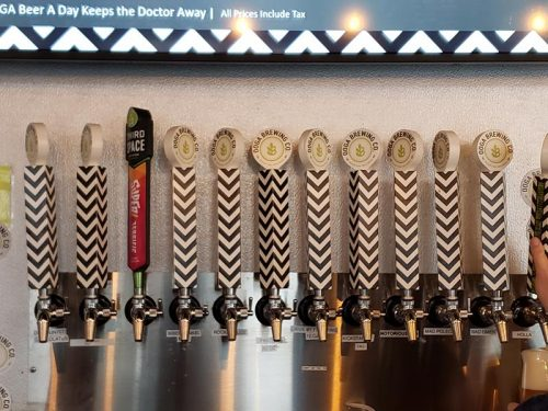 Taps at Ooga Brewing Company, Beaver Dam, Wisconsin