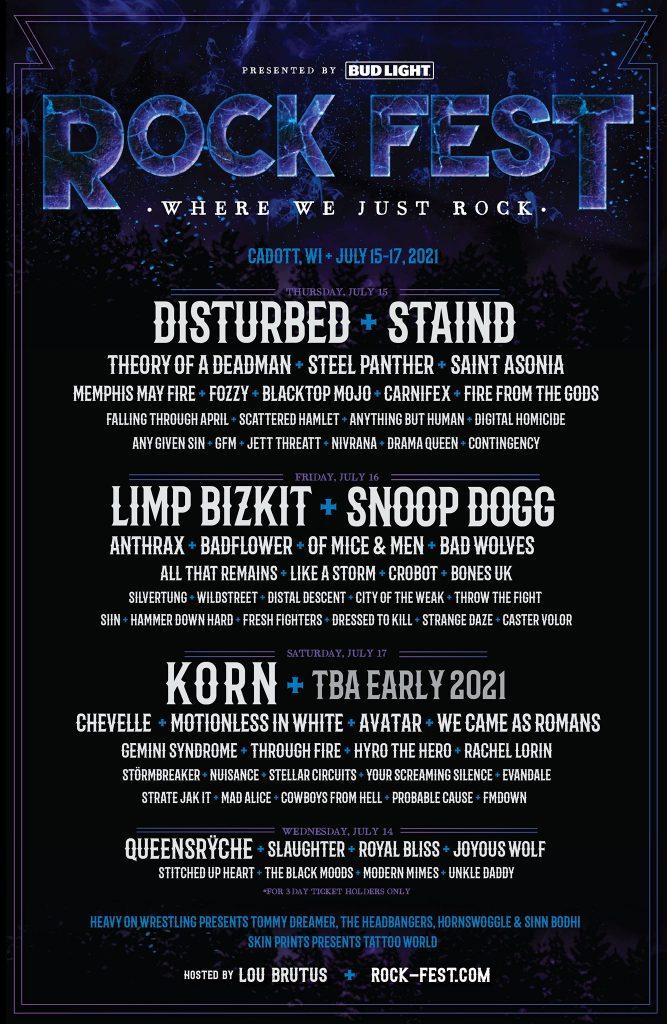 Rock Fest in Cadott, Wisconsin, July 15-17, 2021