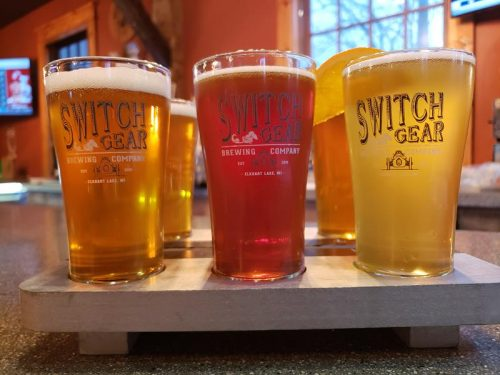 Flight at SwitchGear Brewing Company, Elkhart Lake, Wisconsin