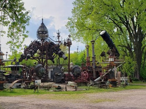 Forevertron at Dr. Evermor's Art & Sculpture Park, along U.S. 12 between Sauk City and Baraboo, Wisconsin