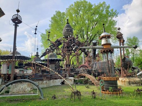 Dr. Evermor's Art & Sculpture Park, along U.S. 12 between Sauk City and Baraboo, Wisconsin