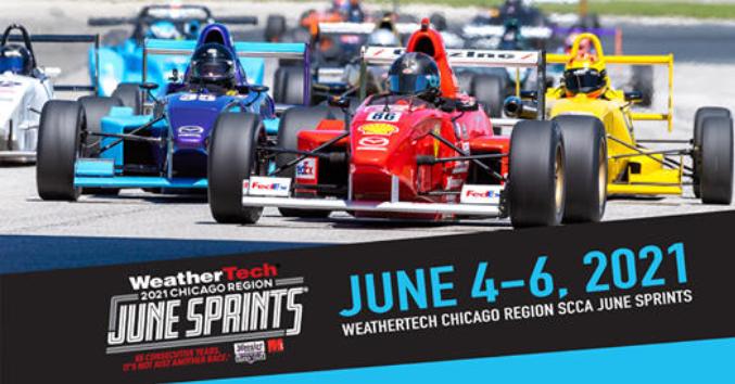 WeatherTech Chicago Region SCCA June Sprints at Road America in Elkhart Lake, Wisconsin
