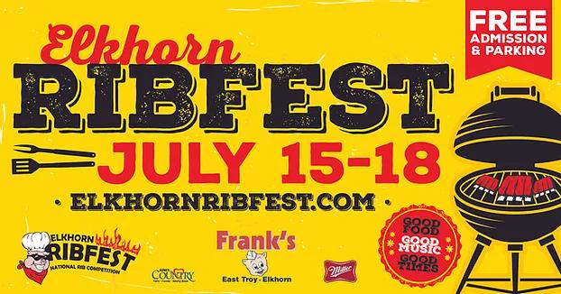 Elkhorn Ribfest, July 15-18. 2021 in Elkhorn, Wisconsin
