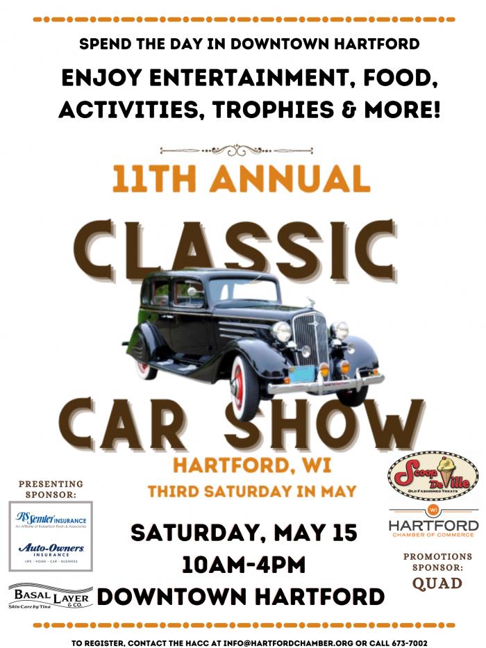Hartford Classic Car Show, May 15, 2021 in Hartford, Wisconsin