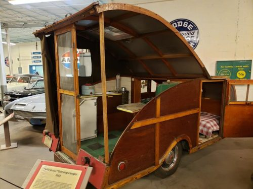 A 1953 Teardrop Camper at the Wisconsin Automotive Museum, Hartford, Wisconsin