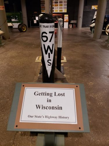 Wisconsin's state highway history at the Wisconsin Automotive Museum, Hartford, Wisconsin