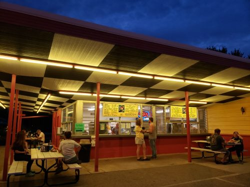 The Cruise-In Drive-In (and Dessert Shop) along U.S. 45 in Marion, Wisconsin