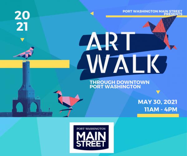 Port Washington Art Walk, May 30, 2021 in downtown Port Washington, Wisconsin