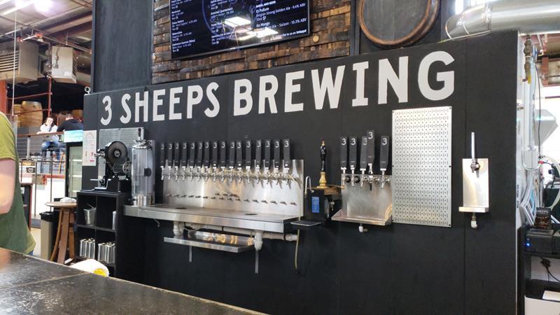 The barback at 3 Sheeps Brewing, Sheboygan, Wisconsin