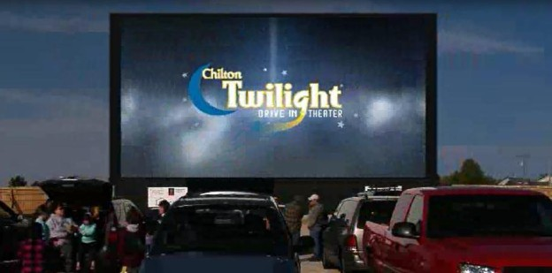 Chilton Twilight Drive-In Theater in Chilton, Wisconsin, just off U.S. 151 and Highways 32 and 57.