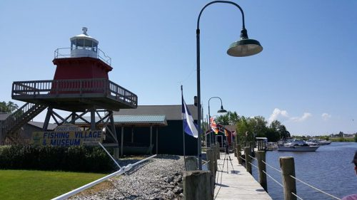 Boardwalk along the Historic Rogers Street Fishing Village in Two Rivers, Wisconsin