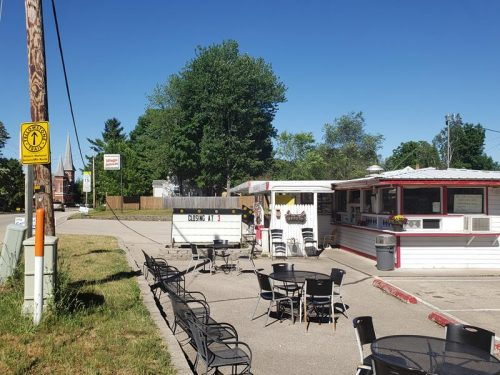 Wega Drive-In, along Highway 110 - and the historic Yellowstone Trail route - in Weyauwega, Wisconsin