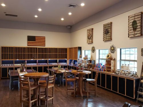 Tasting room at SoLu Estate Winery & Meadery near Cascade, Wisconsin