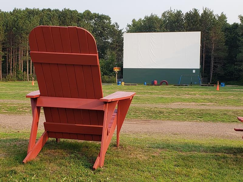 A big seat for the big screen at the Stardust Drive-In in Chetek, Wisconsin