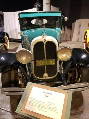 A 1929 Oakland on display at the Wisconsin Automotive Museum in Hartford, Wisconsin