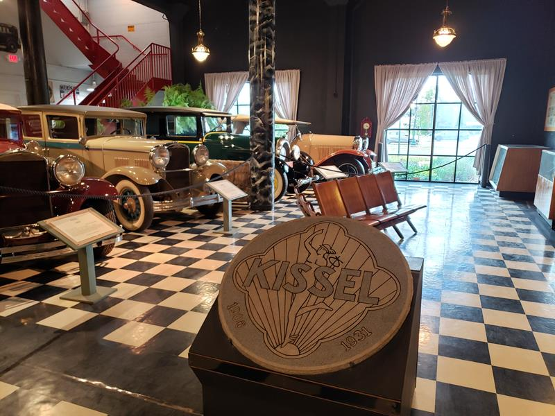 The Kissel exhibit at the Wisconsin Automotive Museum, Hartford, Wisconsin