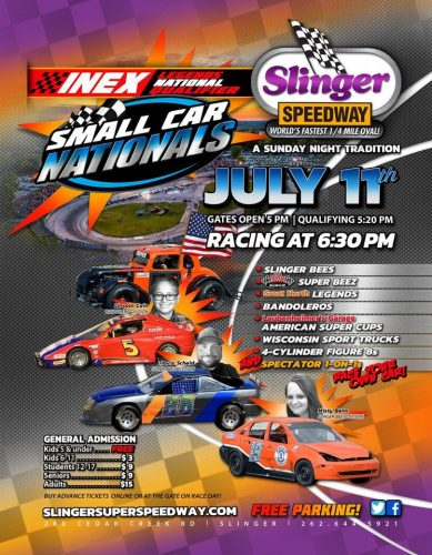 Small Car Nationals, Sunday, July 11, 2021 at Slinger Super Speedway in Slinger, Wisconsin
