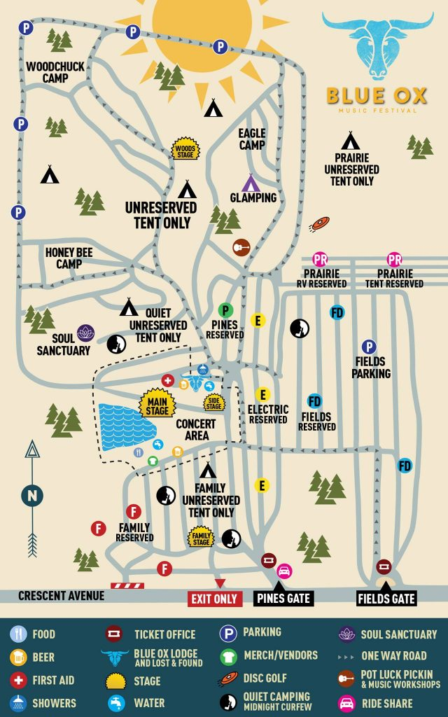 A guide to the grounds at the Blue Ox Music Festival in Eau Claire
