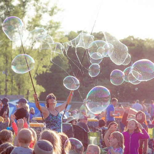 Bubbles at the Blue Ox Music Festival, Eau Claire, Wisconsin