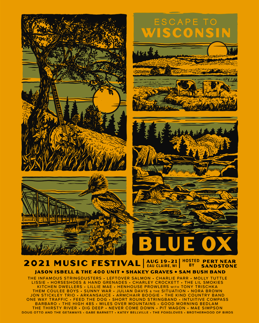 2021 Blue Ox Music Festival, August 19-21, 2021 in Eau Claire, Wisconsin