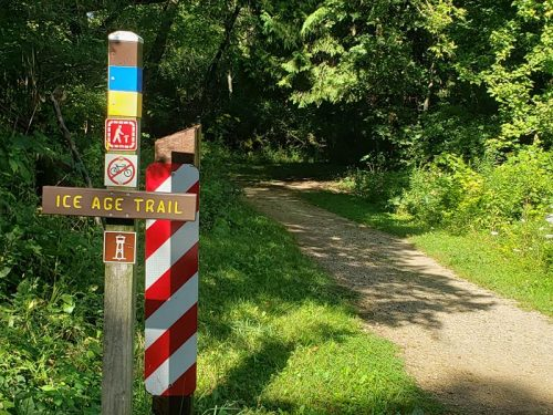 Ice Age Trail at the Pike Lake Unit of Kettle Moraine State Forest outside Hartford, Wisconsin, just off Highway 60