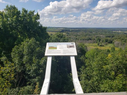 West view from Powder Hill Observation Tower, Pike Lake Unit of Kettle Moraine State Forest outside Hartford, Wisconsin