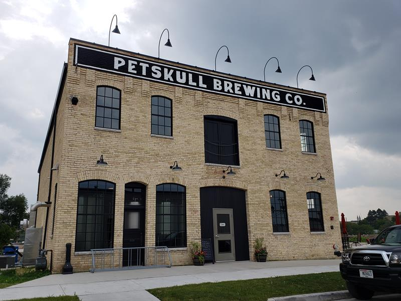 PetSkull Brewing Company, just off U.S. 10, Highway 42, and U.S. 151 in Manitowoc, Wisconsin