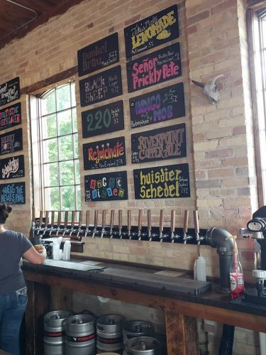 Taps and selections at PetSkull Brewing Company, just off U.S. 10, Highway 42, and U.S. 151 in Manitowoc, Wisconsin