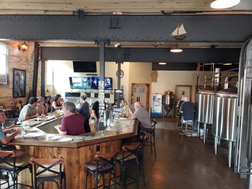 Tap Room inside Littleport Brewing Company, Racine, Wisconsin
