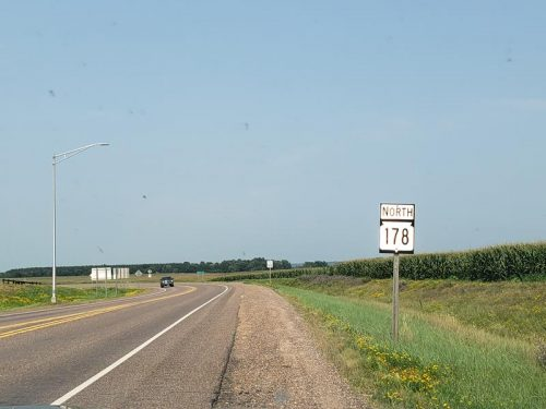 Start of northbound Highway 178 outside Chippewa Falls, Wisconsin