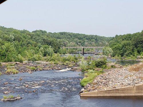 Chippewa River at Jim Falls, Wisconsin, along Highway 178