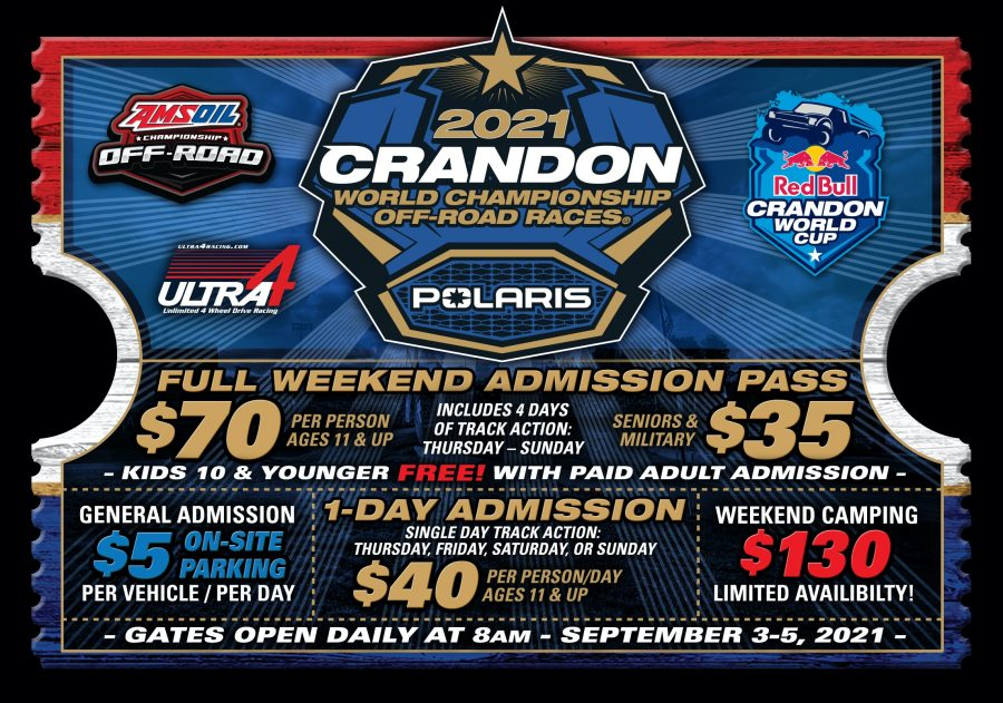 Crandon World Championship Off-Road Races in Crandon, Wisconsin, September 3-5, 2021