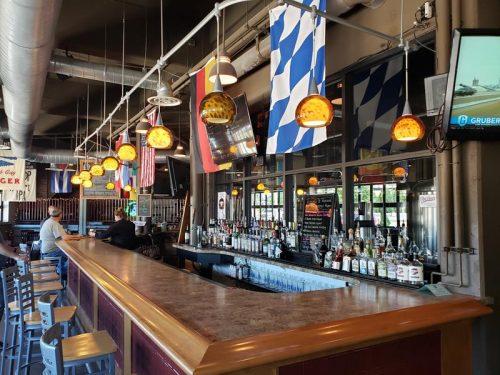The bar inside Blue Heron Brewpub, Marshfield, Wisconsin
