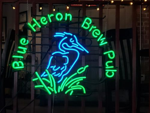 Blue Heron Brewpub neon, Marshfield, Wisconsin