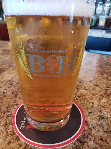 Pint at Blue Heron Brewpub, Marshfield, Wisconsin