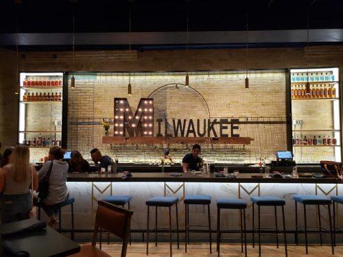 Bar at Central Standard Craft Distillery & Kitchen, Milwaukee, Wisconsin