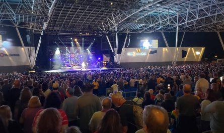 REO Speedwagon at the BMO Harris Pavilion during Summerfest 2021, Milwaukee, Wisconsin