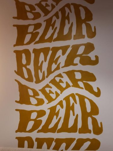 Cool mural at Low Daily Brewery, Burlington, Wisconsin