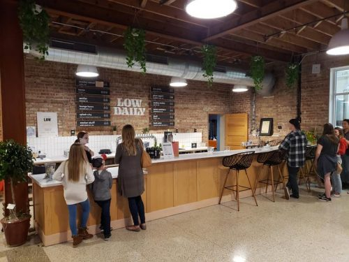 The bar at Low Daily Brewery, Burlington, Wisconsin