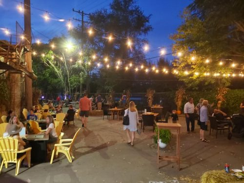 Beer garden at Low Daily Brewery, Burlington, Wisconsin
