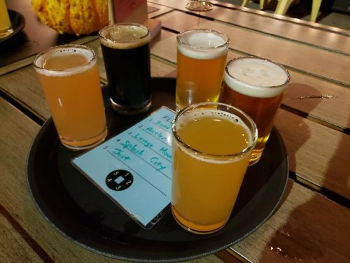 Flight at Low Daily Brewery, Burlington, Wisconsin