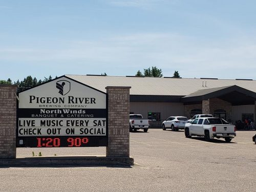 Pigeon River Brewing Company, at Highway 110 and U.S. 45 in Marion, Wisconsin