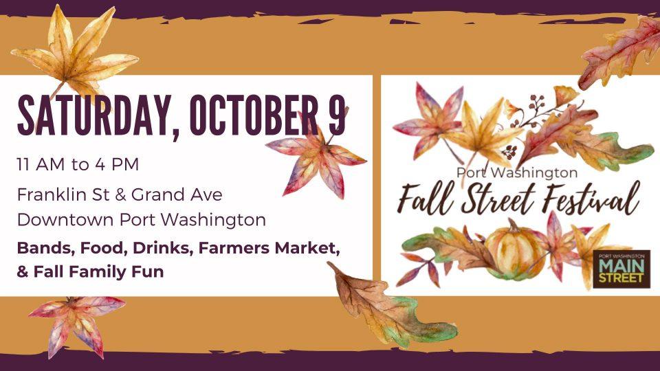 Port Washington Fall Festival, Saturday, October 9th, 2021 in Port Washington, Wisconsin