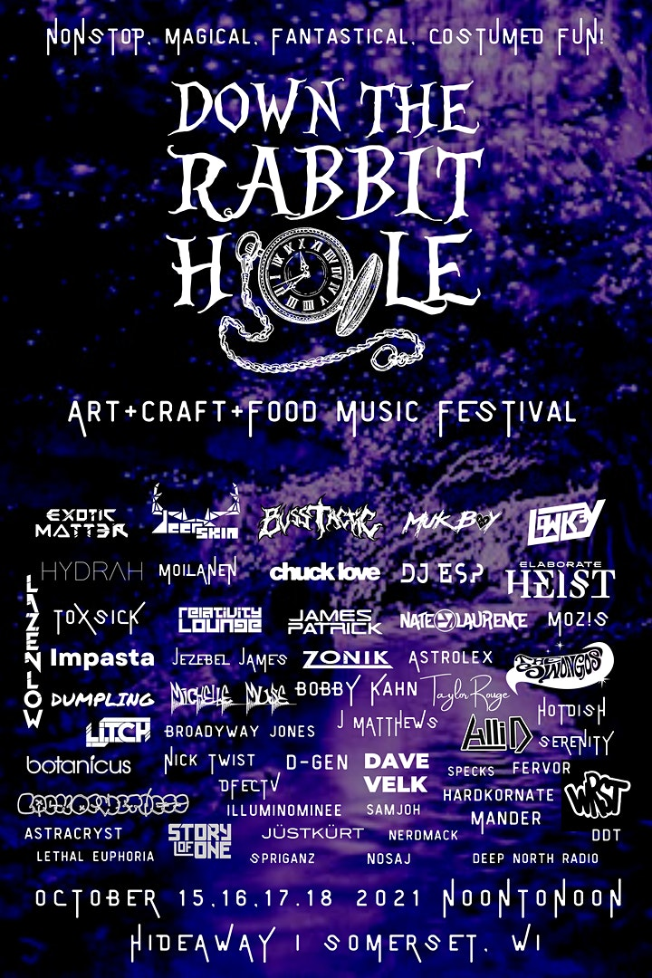 Wisconsin Weekend: Down The Rabbit Hole Festival lineup